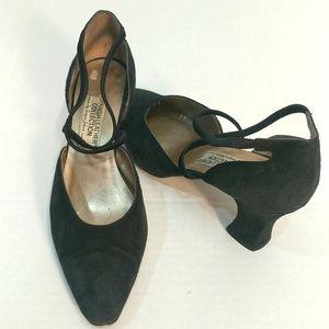 Sergio Zelcer Vintage Black Suede Heels Size 8